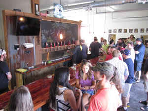 The new Core tap room features a lengthy bar.