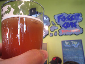 The Fossil Cove sour with a bit of raspberry syrup.