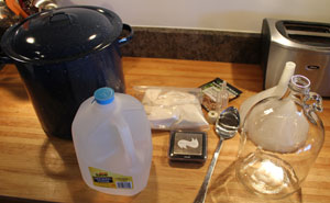 Everything you need. Except yeast. And you don't need the toaster.
