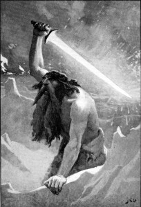 The_giant_with_the_flaming_sword_by_Dollman