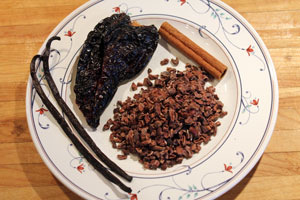 Vanilla, cinnamon, cacao nibs, and ancho chili bring a lot of flavor.
