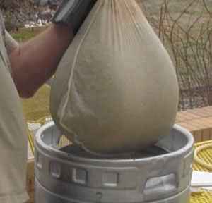 A big of heavy lifting is involved after the mash rest